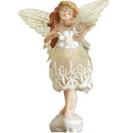 Vino angelo online-Angeli pastorali europei decorazioni per la casa soggiorno soggiorno armadietto piccolo arredamento creativo in resina ornamenti regali