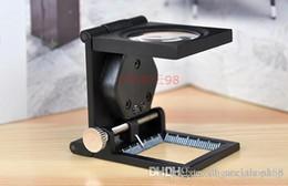 Wholesale Folding Magnifiers - LED lighting Magnifier Fold Magnifier with Scale magnifying glass Jewelry Loupe