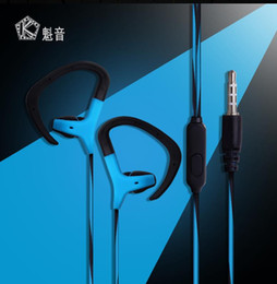 Wholesale Remote Control Noise - Headphone with Microphone 3.5mm Wired Earphone Portable Sport Running Stereo Headphone Remote Control With Black Or White Color