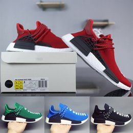 Wholesale cut factory - 2018 Human Race Factory Real Boost Yellow Red Black Orange Men Pharrell Williams X Human Race Running Shoes Sneakers size 36-47