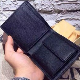 Wholesale Famous Cartoons - 2018 Shipping famous designer brand leather wallet, men's short wallet fashion classic wallet and wallet box