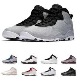 Zapatos de baloncesto de diseño online-West 10 Cement Basketball Shoes sneaker 10s school back Clase de 2006 smoke grey Chicago nuevo diseño Mens deportes sneaker drop shipping run