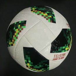 Wholesale paste cup - 2018 Russia PU Football Ball World Soccer Ball High-grade Seamless Paste Skin Soccer Ball Outdoor Sport Training Football Cup