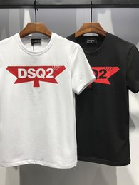 Wholesale high fashion clothing for men - Hot T-shirt Fashion T Shirts For Men High Quality 100% Cotton Summer Style Short Sleeve Tee Tshirts Brands Men's Clothing Letter Print