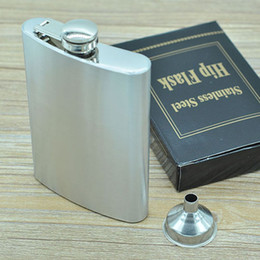Wholesale Whisky Flasks - 8oz Hip Flask With Funnel - Stainless Steel Leak Proof - Liquor Whisky Hip Flask Drinkware Bottle - Includes Free Funnel and Black Retail