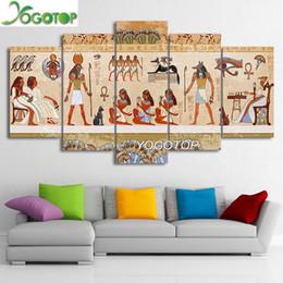 Pintura de egipto online-Comercio al por mayor YOGOTOP DIY Pintura Diamante Kits de punto de Cruz Completo Diamante Bordado 5D Diamante Mosaico Decoración Egipto personas 5 unids ML243