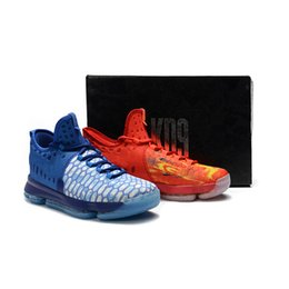 Wholesale Designer Summer Boots - 2018 New Kevin Durant IX Zoom KD 9 Fire & Ice EP Elite Mens Basketball Running Designer Shoes Trainers Sneakers