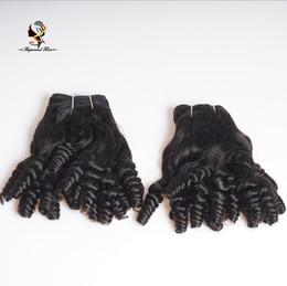 Cabelo curly brasileiro barato on-line-Barato melhor qualidade de fábrica diretamente do cabelo humano brasileiro Funmi Curl Cabelo Weave