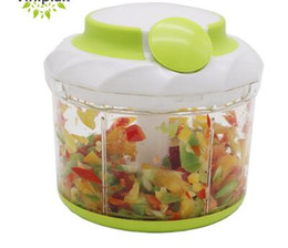 kitchen shredder chopper Coupons - Vegetable Food Chopper Egg Blender Stainless Steel Blade Manual Mincer Food Storage Container Kitchen Portable Onion Nut Chopper