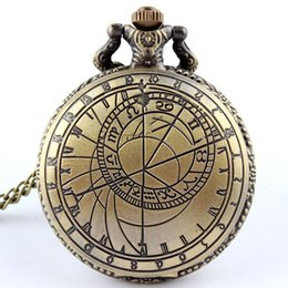 dr chain Promo Codes - Dr. Who Pocket Watch for Men with Fob Chain Doctor Who UK The United Kindom Watches Hollow Engrave Mens Bronze Flip Case Clock