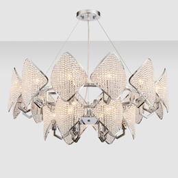 Argentina Lámparas colgantes de lujo posmodernas led arañas de cristal nuevo diseño elegante creativo luces colgantes led para restaurante club bar duplex Suministro