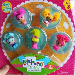 jouer des jouets de poupée Promotion Nouveau! Mini poupées Lalaloopsy en boîte poupées princesse ensemble de jouets de fille Jouets maison de jouets cadeaux