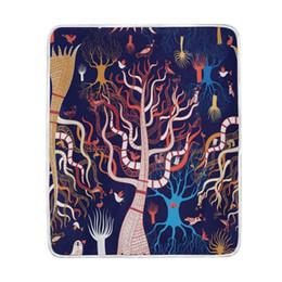 2019 sofá moderno marrom Mágica Árvore Floresta Manta Cobertor Macio Quente Acolhedor Cama Couch Leve Coral Velo Cobertor Lance para Crianças Mulheres Menino