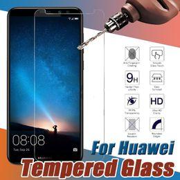 Huawei honor screen guard онлайн-Закаленное стекло Premium Защитная пленка для защиты экрана Защитная пленка для Huawei P20 Pro Lite P10 Plus Mate 10 9 Honor V10 Примечание 8 Nova 2 Y9 Y7 Prime
