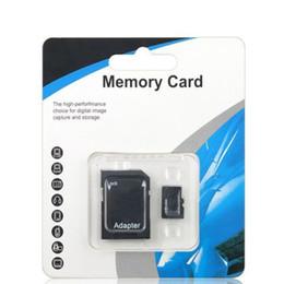 Bleu Blanc Générique 80MB / S 90MB / S 32 Go 64 Go 128 Go 256 Go C10 TF Carte Mémoire Flash Classe 10 Adaptateur SD Libre Retail Blister ? partir de fabricateur