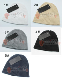 fashionable hats men Promo Codes - winter man woolen hat berets woman caps autumn warm hats Fashionable knitted hat for man and woman stripe Knitting 5colors free shipping