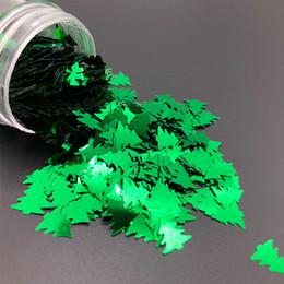 Poly paillettes en Ligne-KMGLITTER Poly-Nouvel An Décoré De Paillettes Vert Arbre De Noël Glitter Pour Le Jour De Noël
