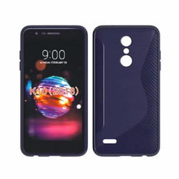 Wholesale silicone cover for asus - Free Shipping TPU Soft Silicone S Line Phone Case Cover For LG K10 2018 LV5 V5 2018 Asus Zenfone Go 4.5 ZC451TG