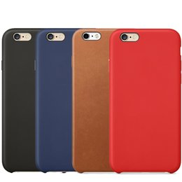 Wholesale Iphone 5s Skin Cover - For iPhone X Cases PU Leather Case Business Style Ultra Thin Slim High Quality Shockproof Protective Cover Skin For iPhone X 8 7 Plus 6S 5S