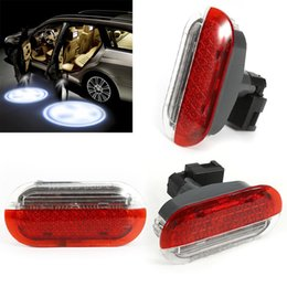 Wholesale New Led Lighting - NEW Car Led Lamp Door Panel Warning Light Welcome Projector For Volkswagen Bora Golf4 MK4 Polo Jetta 98-05 Lights Parts Lamps GGA206