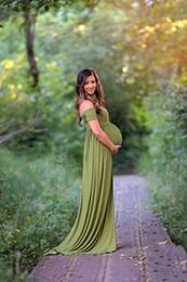 Robe de grossesse Puseky Maxi robe de maternité SPLIT DEVANT Robe Sexy Photographie de maternité Femmes Grossesse Robe Longue ? partir de fabricateur