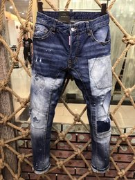 Wholesale Mens Skinny Denim Shorts - Men's Distressed Ripped Skinny Fashion Designer Shorts Slim Motorcycle Moto Biker Causal Mens Denim Pants Hip Hop Jeans A169