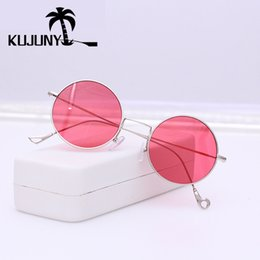 e44aefab64 KUJUNY Round Metal Frame Sunglasses Prince Mirror Retro Circular Sun Glasses  Rhode Island Novelty Men Sunglass ladies Eyewears