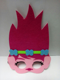 Wholesale Cartoon Mario - Kids Cartoon Half Face Mask Mario Trolls Poppy Branch Cartoon Animation Party Mask