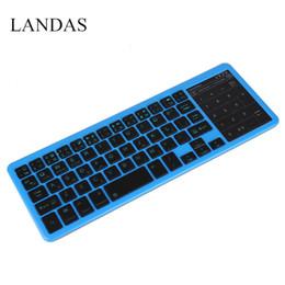 Wholesale Ipad Mini Oem - Landas Universal Touchpad Keyboard Mini Wireless rechargeable for Apple iPad Bluetooth Touchpad Keyboards for Huawei For Samsung