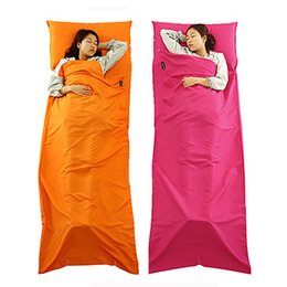 Wholesale Portable Beds Adults - Outdoor Travel Portable Hotel Cotton Sleeping Bag Anti Dirty Cleanliness Single Soft Sleeping Bed Sheets Spring Summer