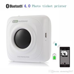 2019 cartes glissières Portable Imprimante Bluetooth Sans Fil mini Imprimante Photo Vente Chaude Sans Fil De Connexion De Poche Imprimante 1000 mAh Lithium-ion Batter
