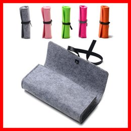 high grade sunglasses Promo Codes - Top-grade Exquisite Felt Cloth Sunglasses Boxes High Quality Luxury Fabric Glasses Case Green  Gray Pink  Black Red