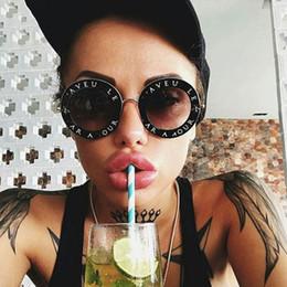 Lunettes de soleil rondes rétro femmes marque designer anglais lettres abeille cadre en métal lunettes de soleil rondes pour femmes 2018 cadeau de nouvel an ? partir de fabricateur