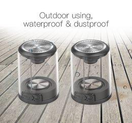 Sem Fio Bluetooth Mini Gêmeos BL Speakers TWSD08 Ao Ar Livre Handsfree Transparente Stereo Surrounding À Prova D 'Água Dusproof Adsorção De Magnético de