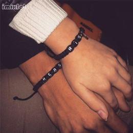 2019 verrouillage clé couple bracelet imixlot lettre bracelet tissé bracelet avec clé amour serrure bracelets pour les couples amoureux copain petite amie cadeau verrouillage clé couple bracelet pas cher