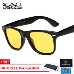 a44736cbf6af9 Warblade moda óculos de visão noturna óculos de sol polarizados homens  condução espelhos revestimento preto armação eyewear masculino óculos de sol
