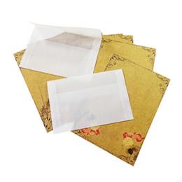 Wholesale Postcard Blank - 100 Pcs lot Cute Retro Blank Translucent Kraft Envelopes Vintage Youpi Envelope For Invitations Postcard Envelop