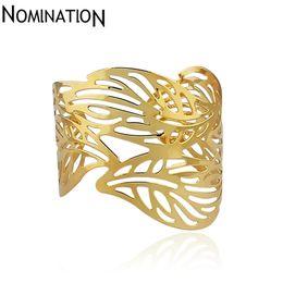 Wholesale Gold Slave Bracelets - Slave Bangles Cuff Bracelets Gold Color Exaggerated Hollow Leaves Shape Alloy Wide Big Bangles Hot Sale Bijoux For Women Gift