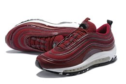 Wholesale Burgundy Lace Trim - New Arrival Cushion 97 Womens Running shoes OG Bordeaux Muslin-Black with 3M Reflective trim women casual shoes Sneakers 917646-601