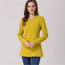 7d05346410b Emotion Moms New Long Sleeve Maternity Clothes Cotton Winter Nursing Top  Maternity for Fashion Pregnant Women Breastfeeding T-shirt