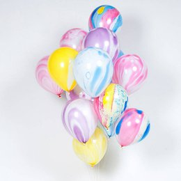 Ballons de nuage en Ligne-10 pouces Coloré Agate Ballon Imprimé Nuage Boule De Fête De Mariage Bar KTV Maison Anniversaire Décoratif Fournitures 100pcs / pack WX9-1548