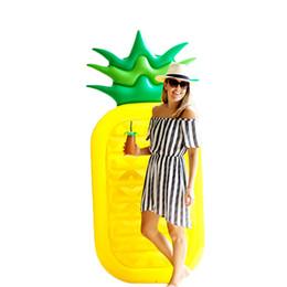 Jouets pour adultes en Ligne-Ananas Flotteurs Gonflables Fruits Piscine Flottant 180 cm Été Extérieure Ride-On Piscine Raft Canapé D'eau Swimme Anneau Adultes Enfants Plage Party Jouets