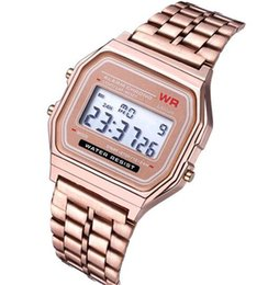 changed watch Promo Codes - Hot sale Digital watch F-91W Watches F91 Fashion -thin LED Change Watches WR Sport Watch for Kids aduct Gold Rosegold sliver