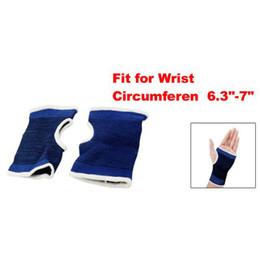 2019 manchon élastique pour le poignet Bleu noir Elastic Pullover Poignet Palm Support Protéger Brace Sleeve Pair promotion manchon élastique pour le poignet