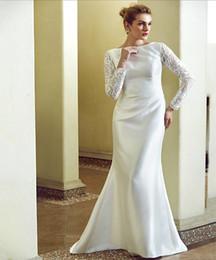 Длинный Рукав На Заказ Подходят Размер Красивые Невесты Кружева Свадебные Платья Дизайнер Онлайн По Лучшей Цене от