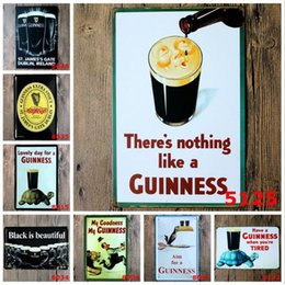 restaurant café Promotion Guinness Collection Signes Vintage Mur Art Rétro SIGN TIN Vieux Mur Peinture en Métal ART Bar Homme Cave Café Restaurant Restaurant Décoration de La Maison