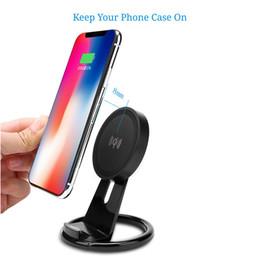 Supporto da tavolo registrabile online-W2000 Wireless Charger Regolabile Qi Wireless Stand di ricarica per Apple iphone 8 X Plus Samsung S8 S7 S6edge plus note 8 con pacchetto 40p