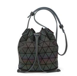 87a6f4d22173 Women BaoBao Bag Geometry Sequins Mirror Saser Plain Folding Bucket Bags  Luminous Handbags Ladies Casual Tote Bao Bao Package Shoulder Bags