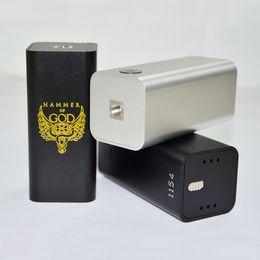 Wholesale Mechanical Mod Electronic Cigarette - Electronic cigarette hammer of god V3 Box Mods E Cig Mechanical box Mod for RDA RBA Atomizer fit 4pcs 18650 battery