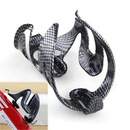 Wholesale Bicycle Water Bottle Cage Mount - igh Quality water bottle holder Carbon Fiber Road Mounting Bicycle Bike Cycling Outdoor Water Bottle Holder Holding Rack Cage Lightweight...